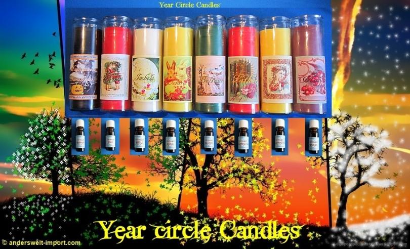 Year circle Candles 8